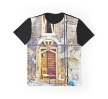 L'Aquila: door and window with scaffoldings and chairs Graphic T-Shirt