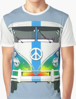 Retro Classic Volkswagen Hippy Van Graphic T-Shirt