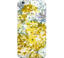 Cool, modern,yellow grey romantic flower pattern design iPhone Case/Skin