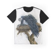 Nest Watercolor Painting Graphic T-Shirt