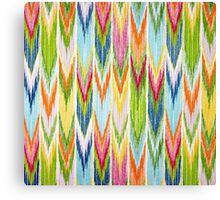 Fabric Art, Pattern, Pastel Endless Chevrons Canvas Print