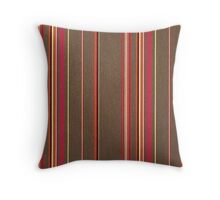 Fabric Art, Pattern, Brownstone Vertical Brown Stripes Throw Pillow