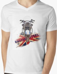 British Steel - Triumph Thunderbird LT Mens V-Neck T-Shirt