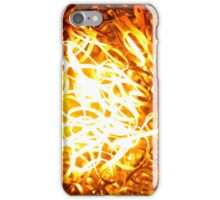 Glowing steel  in the flame of a  blowpipe. iPhone Case/Skin