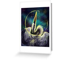 Great Blue Space Heron Greeting Card