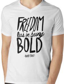 Robert Frost: Freedom Mens V-Neck T-Shirt