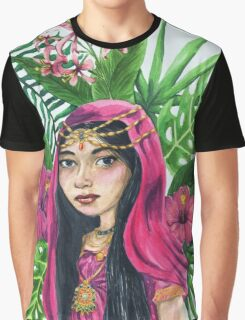 Lush Watercolor Painting Graphic T-Shirt