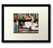 Hitting the Books Framed Print