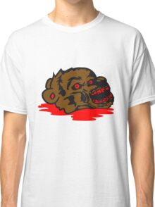 puddle undead face head zombie blood horror halloween scary evil monster hug funny sweet cute teddy bear Classic T-Shirt
