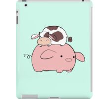 Big Pig Tiny Cow iPad Case/Skin