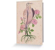 Dove & Roses Greeting Card