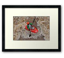 Kayaking Through the Rapids Framed Print