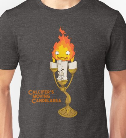 Calcifer's Moving Candelabra w/ Title Unisex T-Shirt