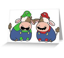 Super Cow Brothers Greeting Card
