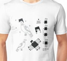 Linear pigeon with graphic elements Unisex T-Shirt