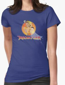 Dragons Lair - Dirk & Daphne Dragons Lair Text Variant Womens Fitted T-Shirt