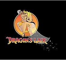 Dragons Lair - Dirk & Daphne Dragons Lair Text Variant Photographic Print