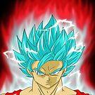 Super Saiyajin Blue Kaioken Son Goku by Junior Mclean