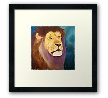"""Regal"" 12""x12"" acrylic painting Framed Print"