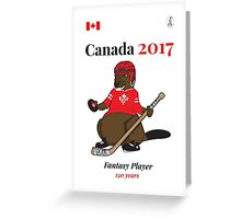 Celebrate Canada Day, Canada 150 and Canada 2017 First With our Canadian Hockey, Curling, Party, Cool and Heritage Beaver Shirt Selection! Greeting Card
