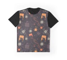Colorful graphic pigeons  Graphic T-Shirt