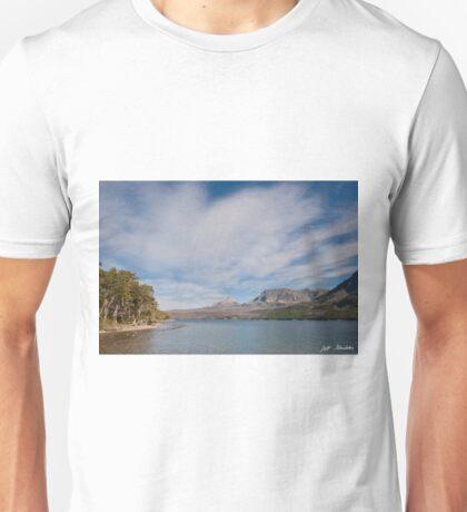 Saint Mary Lake and Divide Peak Unisex T-Shirt