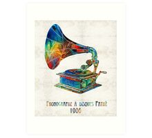 Colorful Phonograph Art by Sharon Cummings Art Print