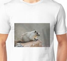Hoary Marmot on a Boulder Unisex T-Shirt