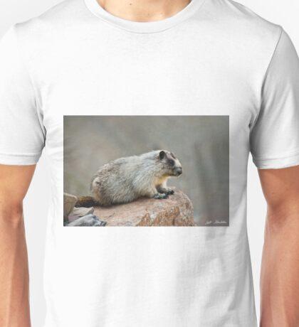 Hoary Marmot on a Boulder Unisex T-Shirt