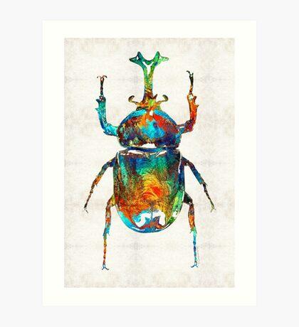 Colorful Beetle Art - Scarab Beauty - By Sharon Cummings Art Print