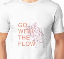 GO WITH THE FLOW - PINK Unisex T-Shirt