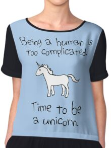 Time To Be A Unicorn Chiffon Top