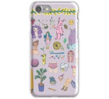 I Love Colourful Animal Erasers (clear background) iPhone Case/Skin