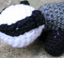 Badger Crochet Woodland Critter Sticker
