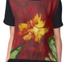 Flowerscape Flame Chiffon Top