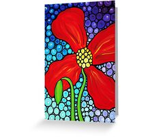 Lady In Red - Large Red Poppy Art Mosaic Print Flower Greeting Card