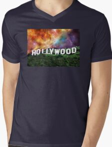 Hollywood - Home of the Stars by Sharon Cummings Mens V-Neck T-Shirt