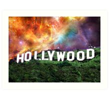 Hollywood - Home of the Stars by Sharon Cummings Art Print