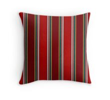 Pattern, Geometric Tribal, Wide Bold Vertical Stripes Throw Pillow
