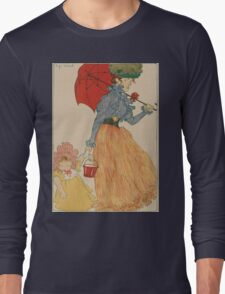 Mother with daughter, art nuevo, art deco style, kid with woman - vintage fashion art - Henri Evenepoel - At The Square Long Sleeve T-Shirt