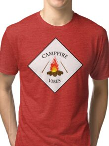 Campfire Vibes Summer PNW Hiking Camping  Tri-blend T-Shirt