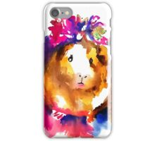 Guinea Pig in the Spring iPhone Case/Skin