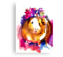 Guinea Pig in the Spring Canvas Print