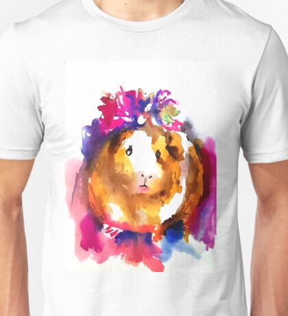 Guinea Pig in the Spring Unisex T-Shirt
