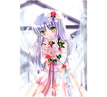 Silver Hair Waifu Photographic Print