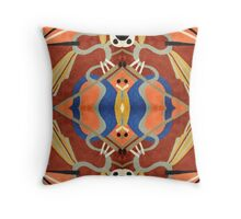 Pattern, Ethnic Inspired, Desert Colored Print Throw Pillow