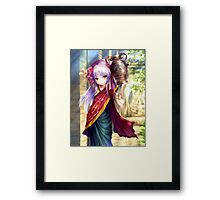 Waifu Traditional Girl Framed Print