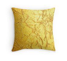 Bling Design, Wrinkled Foil Gold Hue Print Throw Pillow