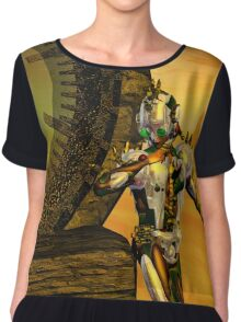 CYBORG TITAN IN THE DESERT OF HYPERION Sci-Fi Movie Chiffon Top