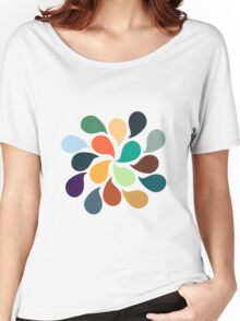 Colorful Water Drops Women's Relaxed Fit T-Shirt